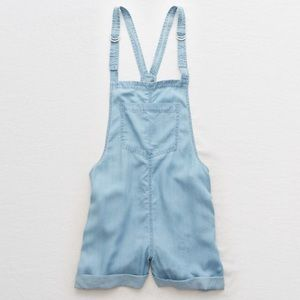 American Eagle Chambray Overall Shorts